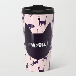 Pink Miaou ! Travel Mug