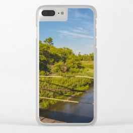 Stephens Bridge, North Dakota, 9 Clear iPhone Case