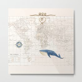 World of Whales Metal Print