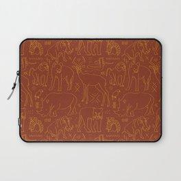 African Animal Mudcloth in Rust + Ochre Laptop Sleeve