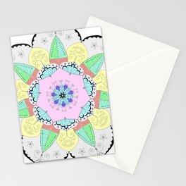 Mandala Art Flower Design Patterns Boho Pastel Stationery Cards