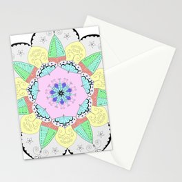 Mandala Art Flower Design Patterns Boho Pastel Stationery Cards