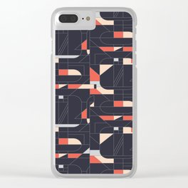 Geometric Print Repeat Clear iPhone Case
