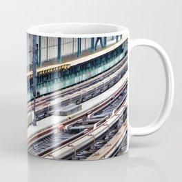 Train platform at Bay 50 street Coffee Mug