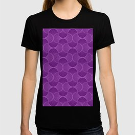 Lilac Abstract Flower Petals Pattern T-shirt
