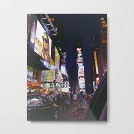 Leaving Time Square. Metal Print