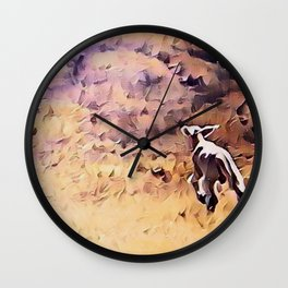 Lamb Frolic with Mama Ewe by CheyAnne Sexton Wall Clock