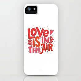 Love Quote Design, Colorful Hearts, Rainbows and Flowers (4) iPhone Case
