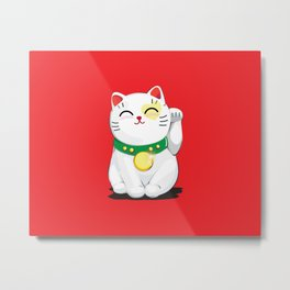 My Lucky Cat Metal Print