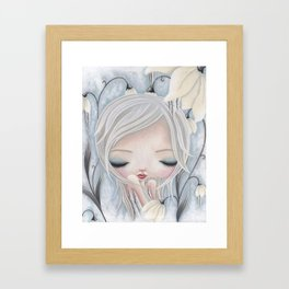 Silence of the Snowdrops Framed Art Print