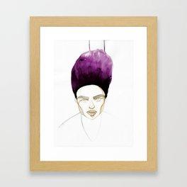 Morgan's Hair is on Purple Fire Framed Art Print
