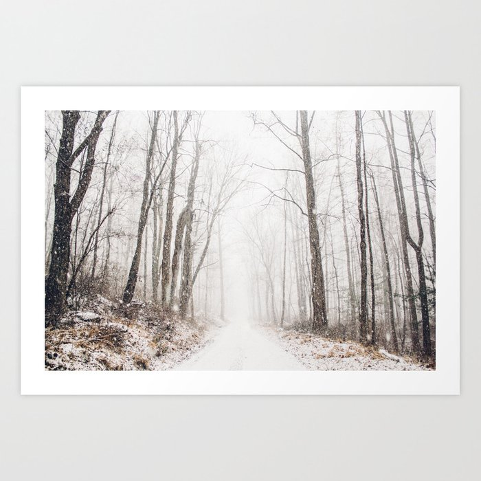 Sunday's Society6 | Winter path in winter wonderland art print