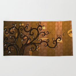 LEAVE - Autumn Amber Beach Towel