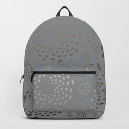 Geometric Round Abstract Hazelnut Circles On Pewter Gray Background Backpack