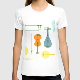 Musical instrument collection T-shirt