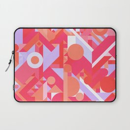 GEOMETRY SHAPES PATTERN PRINT (WARM RED LAVENDER COLOR SCHEME) Laptop Sleeve