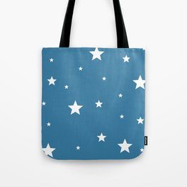 White stars on blue Tote Bag
