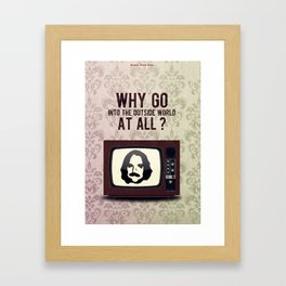 Punk Quotes Poster Serie / Black Flag Said : TV Party! Framed Art Print