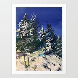 Forêt nordique d'hiver Art Print