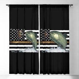 Trout: Thin Line Flag Blackout Curtain