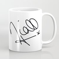 niall horan Mugs featuring Niall Horan - One Direction by Moments Design