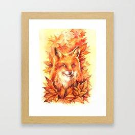 Foxy Autumn Framed Art Print