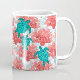Sea Turtles in The Coral - Ocean Beach Marine Coffee Mug