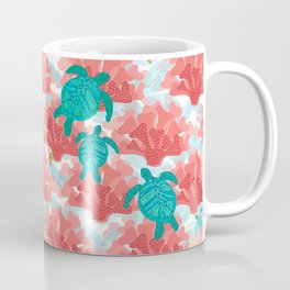 Sea Turtles in The Coral - Ocean Beach Marine Coffee Mug