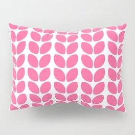 leaves - hot pink Pillow Sham