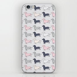 Doxie Love - Grey and Pink iPhone Skin