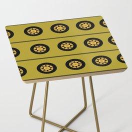 Black sun band Side Table