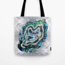 Abstract Ripple  Abalone and Mother of pearl Tote Bag