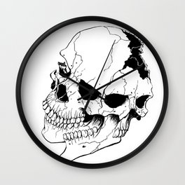 Skull (Fragmented and Conjoined) Wall Clock