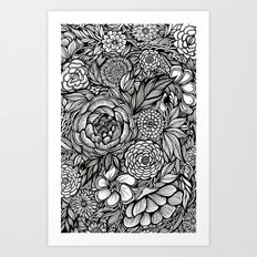 Peony Fascination Art Print
