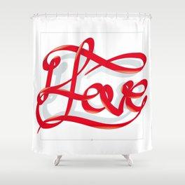 I Love Shower Curtain