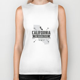 California State Badge Biker Tank
