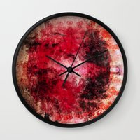 cocktail Wall Clocks featuring Cocktail by Shereen Yap