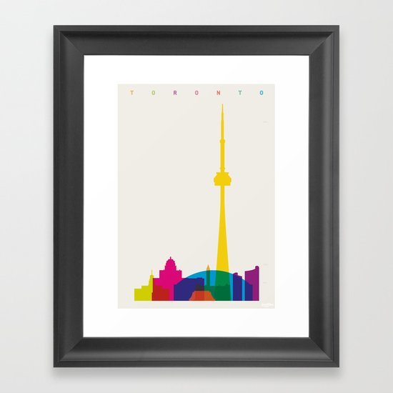 Shapes of Toronto. Accurate to scale Framed Art Print