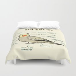 Anatomy of a Cockatiel Duvet Cover