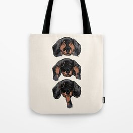 No Evil Dachshund Tote Bag