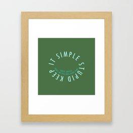 K.I.S.S. Framed Art Print