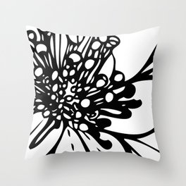 Lily Girl Throw Pillow