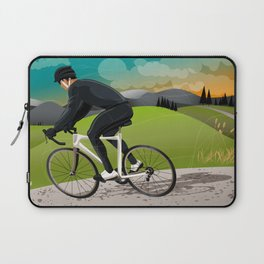 Road Cyclist Laptop Sleeve