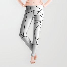 Simple Modern Black and White Geometric Pattern Leggings