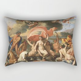 The Birth of Venus by Nicolas Poussin (1635) Rectangular Pillow