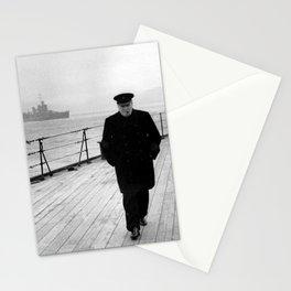 Winston Churchill At Sea Stationery Cards