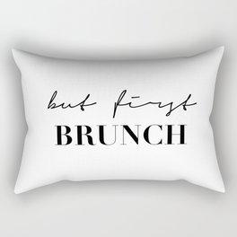 But first brunch Rectangular Pillow