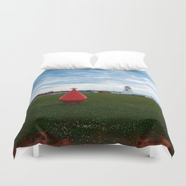 Marker Buoy and Lighthouse Duvet Cover
