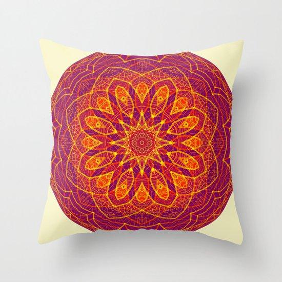 Kaleidoscope Sphere Throw Pillow