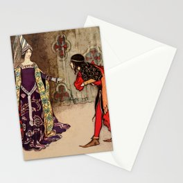 Bowing to the princess Stationery Cards